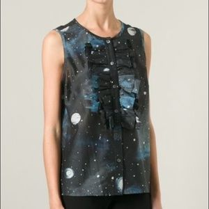 Marc Jacobs Stargazer Ruffle Sleeveless Top M NWT